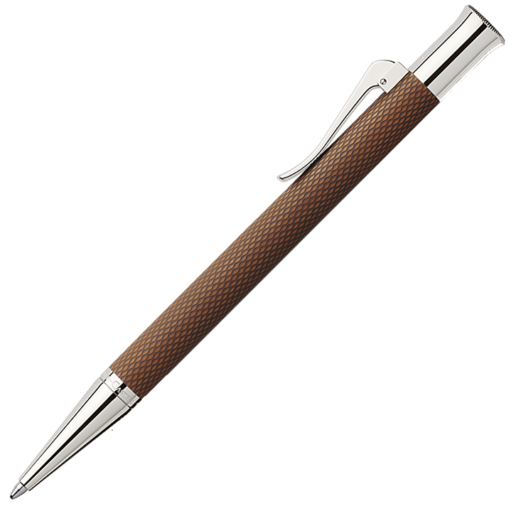 146535 - Cognac 'Guilloche' ballpoint pen by Graf von Faber-Castell