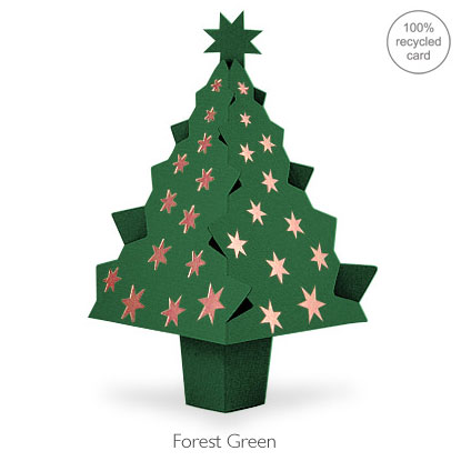 Forest Green pop-up Christmas Tree card