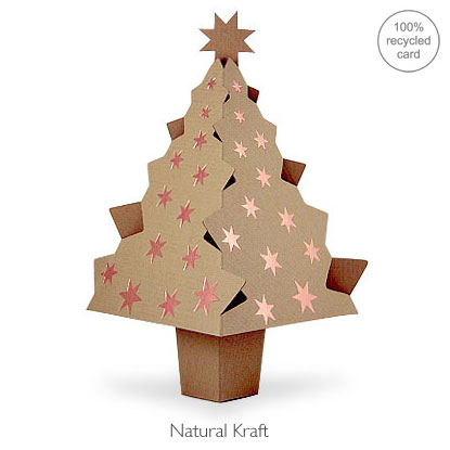 Natural Kraft pop-up Christmas Tree card