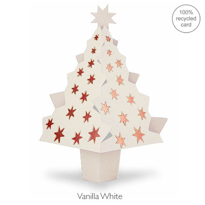 Vanilla White pop-up Christmas Tree card